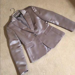 Tahari Arthur S. Levine LUXE silver blazer
